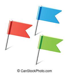 Sklad barevných vlajek