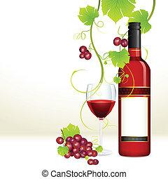 Sklenice s vínem a sklem