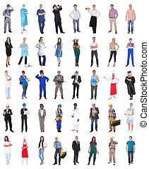 Skupina lidí z různých povolání