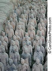 Skupina slavných bojovníků v Xianu