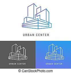 skutečný, budova, hodnost, vyvolávání, pralátka, emblém, ikona