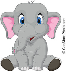 Sladký slon sedící