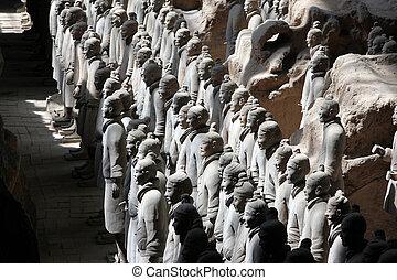 slavnej terénní bojovník z Xianu, qin shi huangova hrobka, brada