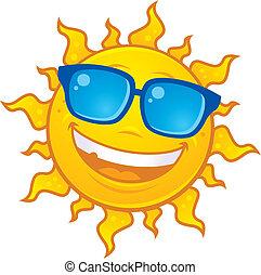 Slunce nosí sluneční brýle