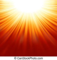 Sluneční paprsky slunečního světla. Eps 8