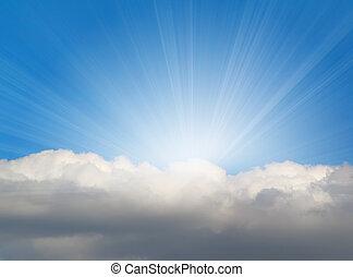 Sluneční světlo s mrakem