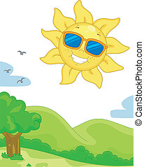 Slunný den