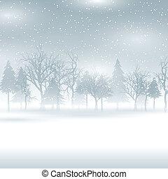 Sněhodná zimní krajina