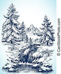 Sněhová krajina