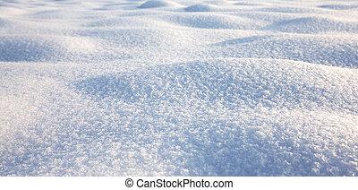 Sněhová struktura, zimní scéna, sníh, sníh