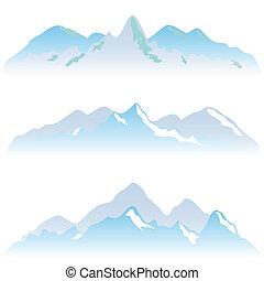 Sněhové hory vrcholky