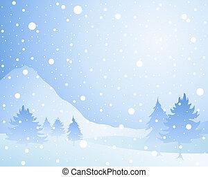 Sněhový pozadí