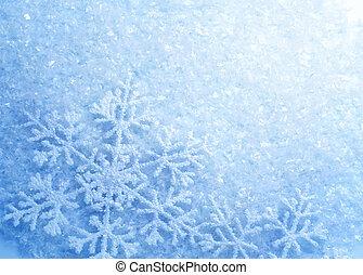 snowflakes., grafické pozadí., zima, sněžit, vánoce