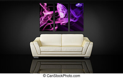 Sofa a dekorační plátno