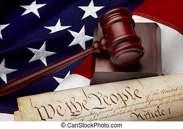 soudce, americký, zátiší