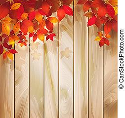 Spodní pozadí s listí na dřevorubě