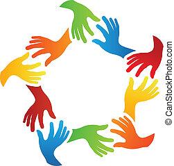 společenský, průvodce, ruce
