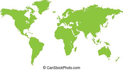 společnost, nezkušený, světadíl, mapa