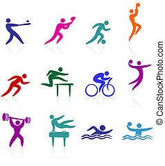 sportovní, vybírání, ikona