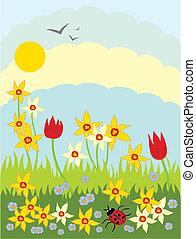 Springtime květiny