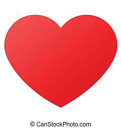 Srdcový tvar pro symboly lásky