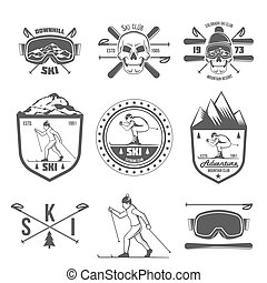 Stázené lyžařské značky a značkové prvky