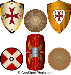 středověk, štíti