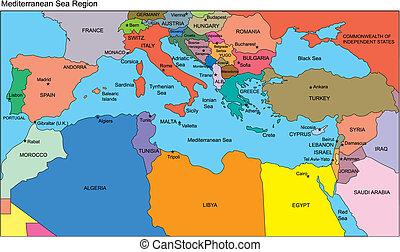 středozemský země, jména, krajina