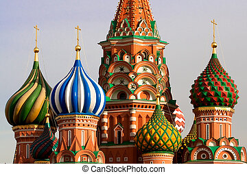 st., rusko, moskva, basil's, cathedral.