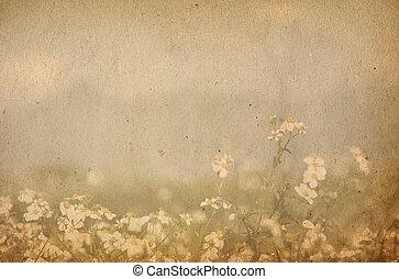 Staré květinové struktury - perfektní pozadí pro text nebo obraz