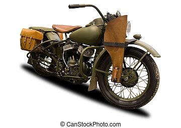 Starobylá vojenská motorka