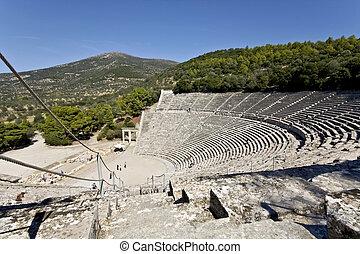 starobylý řecko, peloponisos, amfiteátr, epidaurus