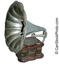 Staropisný gramofon