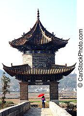 Starověká budova v Číně