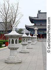 Starověký čínský styl kamenné budovy