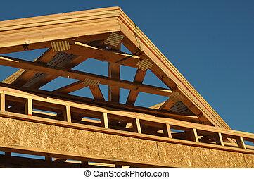 Stavba nové střechy doma