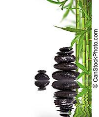 stones, živost, proložit, text, svobodný, láva, lázně, mladíci, bambus, klidný