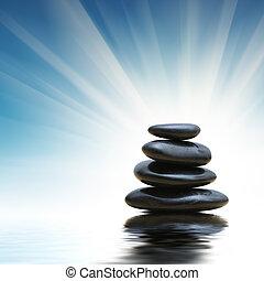 stones, zen, komín