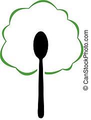 strava, emblém, organický