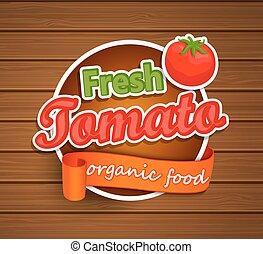 strava, label., rajče, čerstvý, -, organický