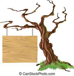 strom, ilustrace, firma