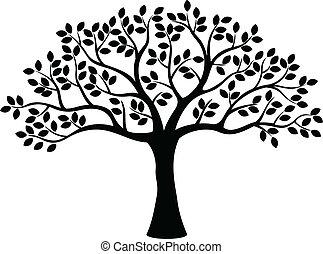 strom, silueta