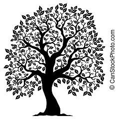 Strom ve tvaru siluetu