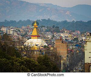 stupa, boudhanath, kathmandu