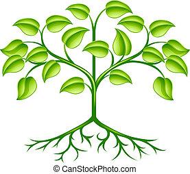 stylizovaný, strom, design