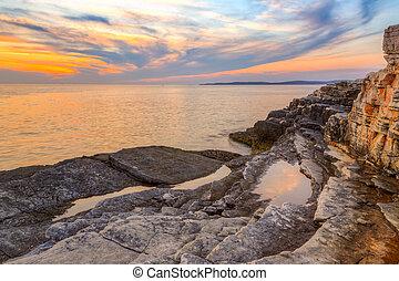 Sunrise nad mořem u Kamenjaku