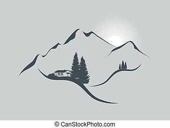 Sunrise v Alpách