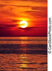 Sunset. Kret, greece.