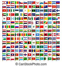 Světová vlajka nastavena