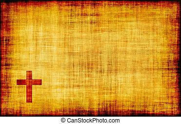 Svatý kříž na papírový papír
